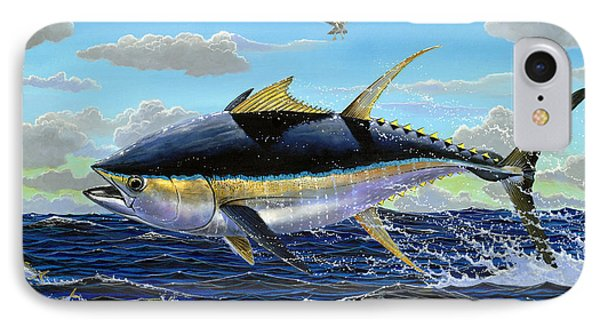 Yellowfin Crash Off0081 IPhone Case by Carey Chen
