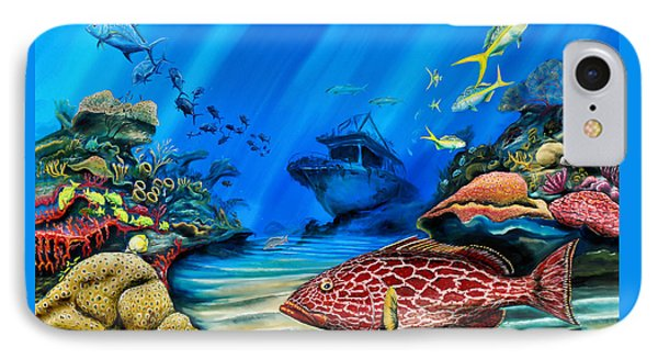 Yellowfin Grouper Wreck IPhone Case by Steve Ozment