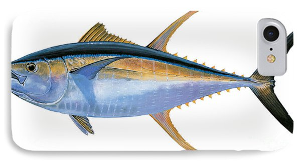 Yellowfin Tuna IPhone Case by Carey Chen