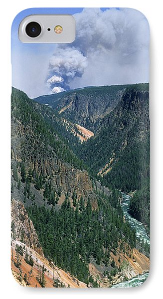 Yellowstone Afire IPhone Case by Sandra Bronstein