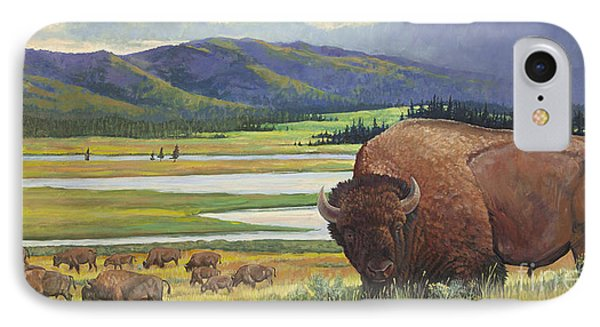 Yellowstone Bison Phone Case by Rob Corsetti