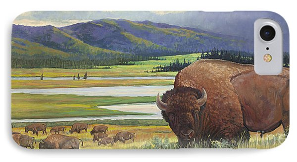Yellowstone Bison IPhone Case