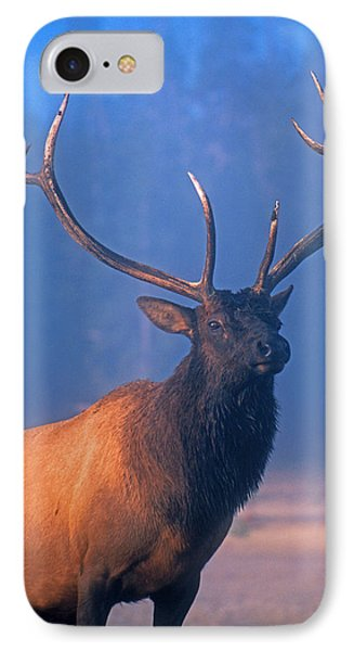 IPhone Case featuring the photograph Yellowstone Bull Elk by Dennis Cox WorldViews