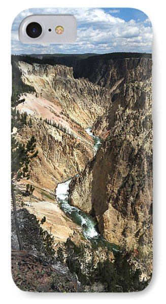 IPhone Case featuring the photograph Yellowstone Canyon by Laurel Powell