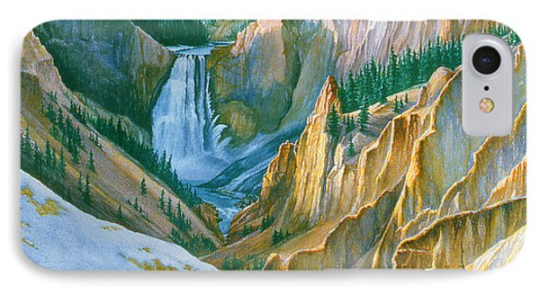 Yellowstone Grand Canyon - November Phone Case by Paul Krapf