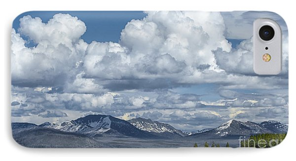 Yellowstone Lake Cloudscape Phone Case by Sandra Bronstein
