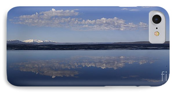 IPhone Case featuring the photograph Yellowstone Lake Reflections by J L Woody Wooden