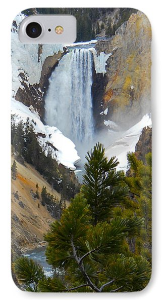 IPhone Case featuring the photograph Yellowstone Lower Falls In Spring by Michele Myers