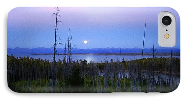 Yellowstone Moon IPhone Case by Ann Lauwers