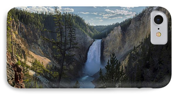 Yellowstone River Lower Falls IPhone Case by Michael J Bauer