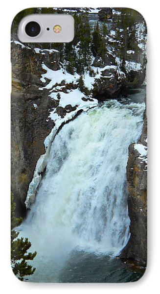 IPhone Case featuring the photograph Yellowstone Upper Falls In Spring by Michele Myers