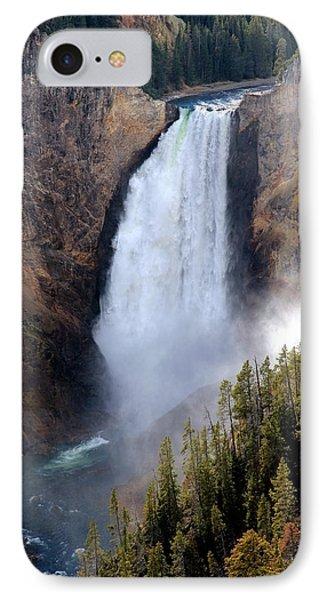Lower Yellowstone Falls IPhone Case by Athena Mckinzie
