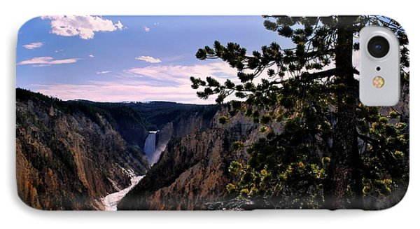 IPhone Case featuring the photograph Yellowstone Waterfall by Matt Harang