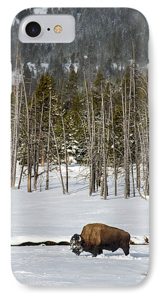 Yellowstone Winter IPhone Case by Alan Toepfer