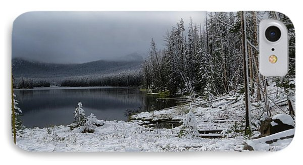 Yellowstone Winter Phone Case by Diane Mitchell