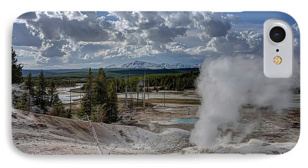 IPhone Case featuring the photograph Yellowstone's Norris Geyser Basin by Bill Gabbert