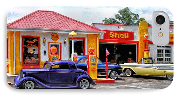 Yesterday's Shell Station IPhone Case by Michael Pickett
