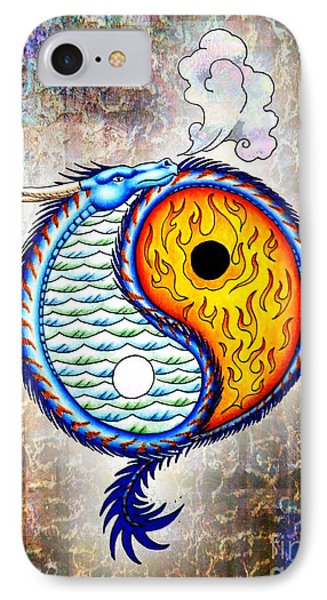 Yin And Yang Textured IPhone Case by Robert Ball