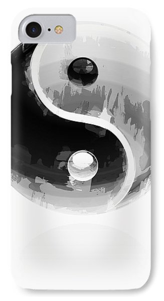 Yin Yang 2 IPhone Case by Daniel Hagerman