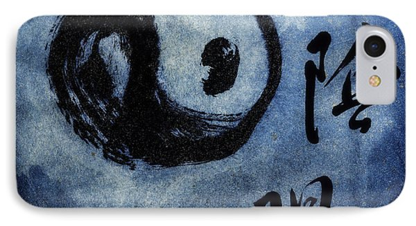 IPhone Case featuring the photograph Yin  Yang Brush Calligraphy by Peter v Quenter