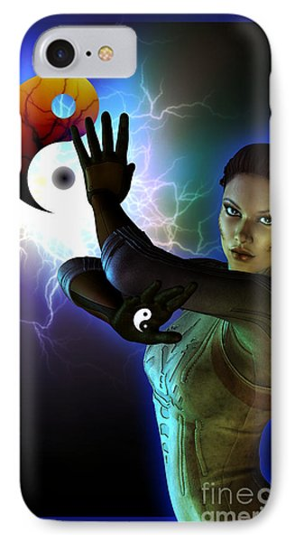 IPhone Case featuring the digital art Yin Yang by Shadowlea Is