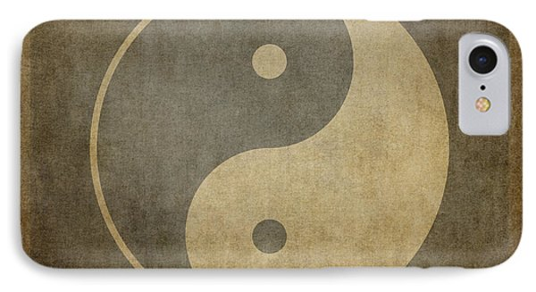 Yin Yang Vintage IPhone Case by Jane Rix