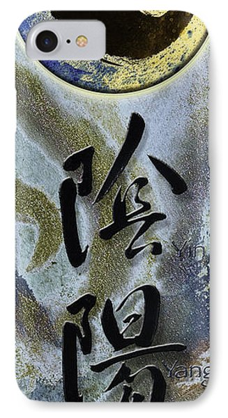 Yinyang Brush Calligraphy With Symbol IPhone Case by Peter v Quenter