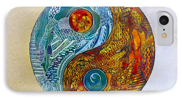 IPhone Case featuring the painting Yinyang  by Suzette Kallen