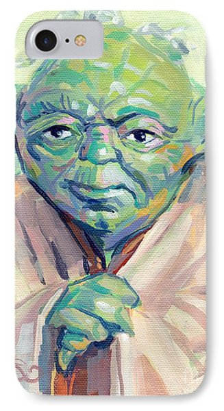 Yoda IPhone Case by Kimberly Santini
