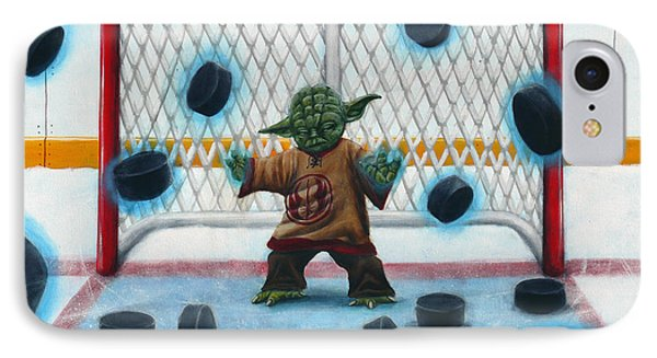 Hockey iPhone 7 Case - Yoda Saves Everything by Marlon Huynh