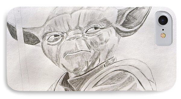 Yoda Sketch IPhone Case