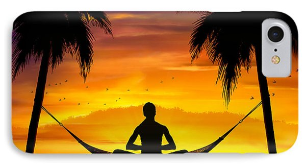 Yoga At Sunset IPhone Case