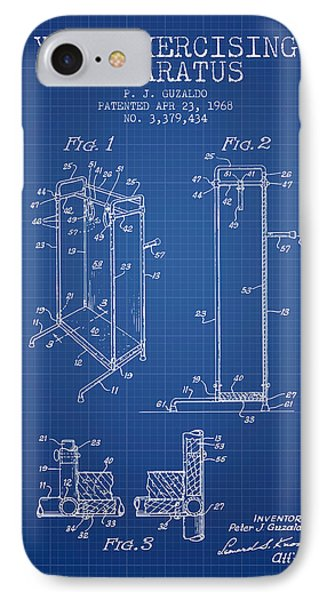 Yoga Exercising Apparatus Patent From 1968 - Blueprint IPhone Case by Aged Pixel