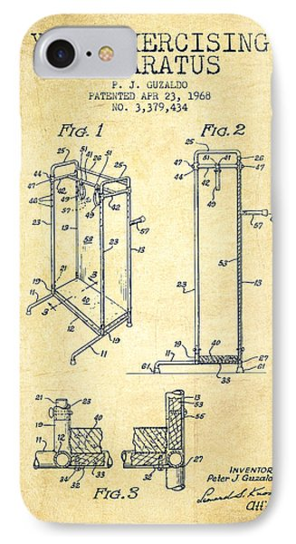 Yoga Exercising Apparatus Patent From 1968 - Vintage IPhone Case by Aged Pixel