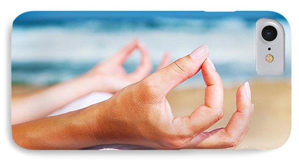 Yoga Meditation On The Beach IPhone Case