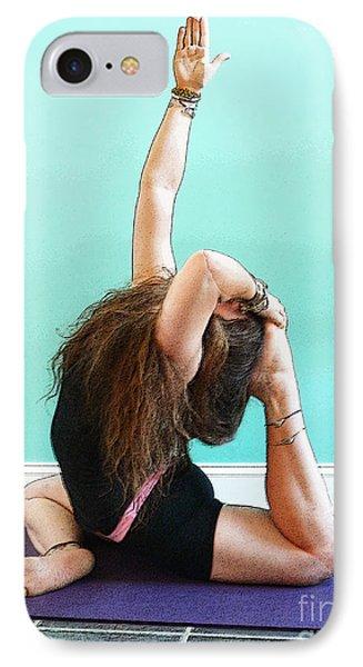 Yoga Study 3 IPhone Case by Sally Simon