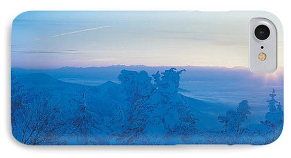 Yokoteyama At Sunrise Shiga Kogen IPhone Case by Panoramic Images