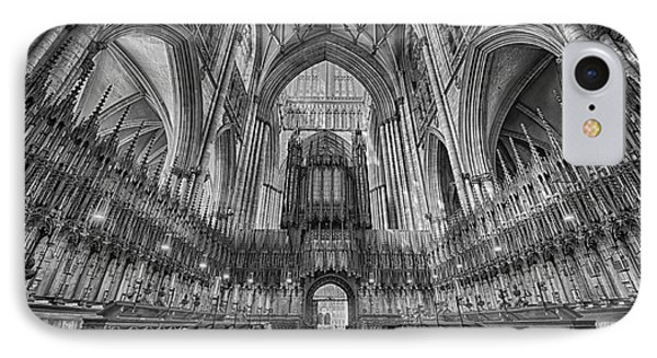 IPhone Case featuring the photograph York Minster Duotone I by Jack Torcello