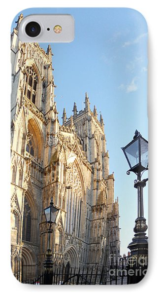 York Minster With Lampost Phone Case by Neil Finnemore