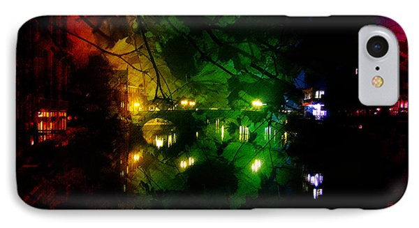 York River Night Abstract IPhone Case by Neil Finnemore