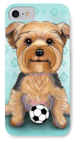 Yorkie  Baxter Hemenway IPhone Case by Catia Cho