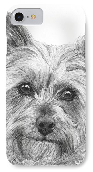 Yorkie Drawing IPhone Case