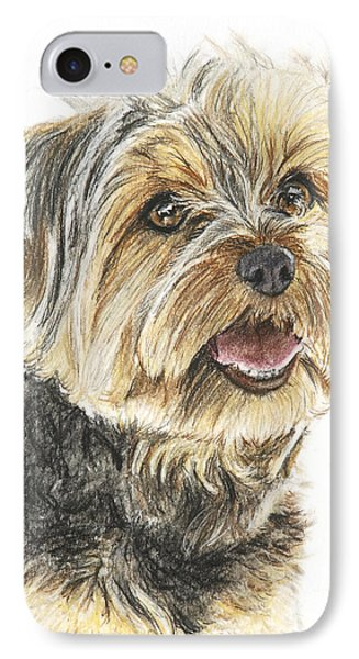 Yorkie In Color Phone Case by Kate Sumners
