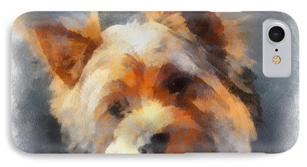 Yorkie Love IPhone Case by Barbara R MacPhail