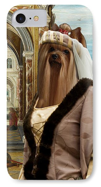 Yorkshire Terrier Art - The Courtyard Of A Renaissance Palace IPhone Case by Sandra Sij