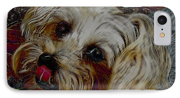 Yorkshire Terrier Artwork Phone Case by Lesa Fine