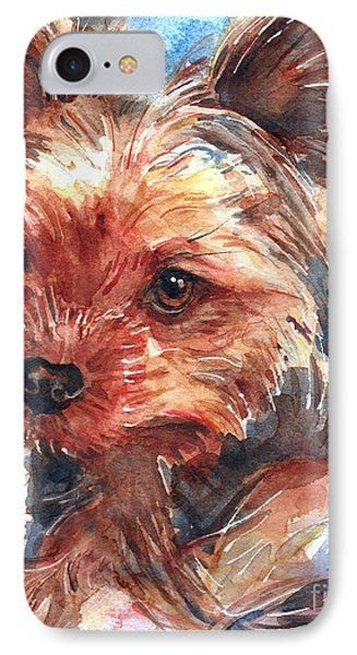 Yorkshire Terrier IPhone Case by Maria's Watercolor