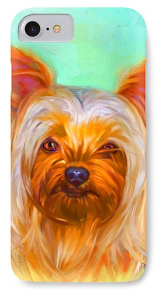 Yorkshire Terrier Painting Phone Case by Iain McDonald