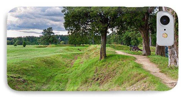 Yorktown Battlefield Earthworks IPhone Case by John M Bailey