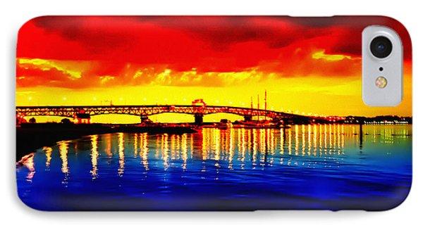 Yorktown Bridge Sunset IPhone Case